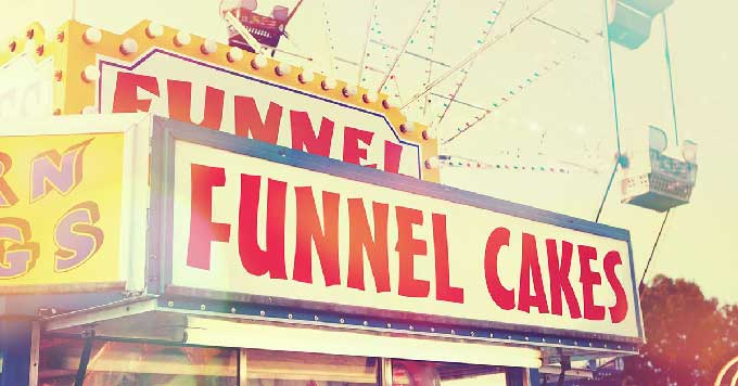 funnel cake booth at a festival