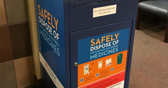 medicine disposal box at LVMC