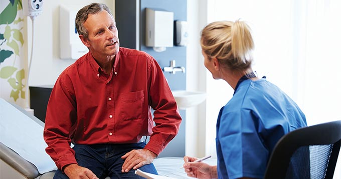 Patient with Urgent Care Doctor