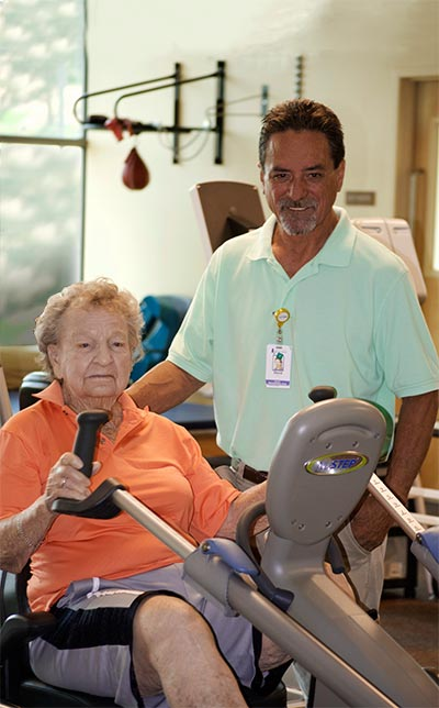 Bev Walter in Physical Therapy