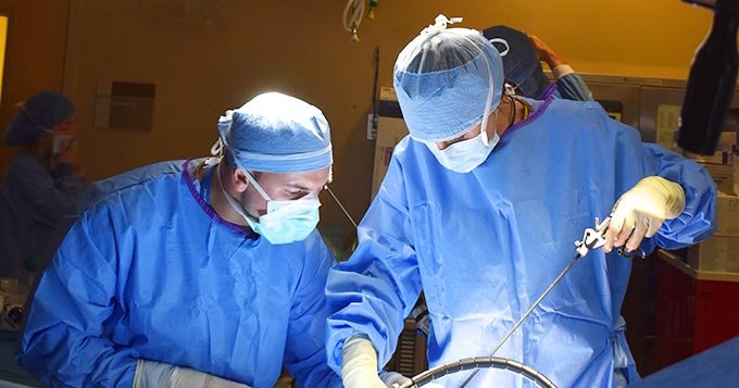 Dr. Christopher Taglia in surgery